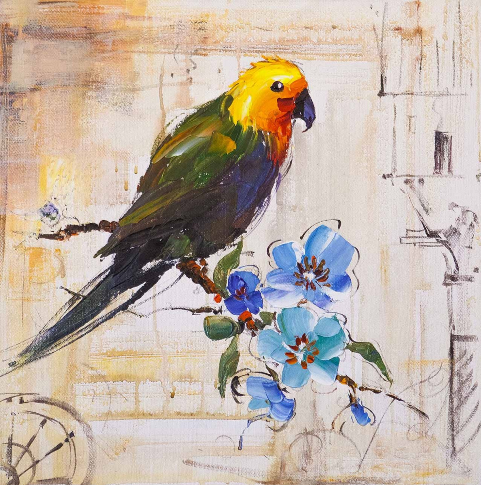 Jose Rodriguez. Parrot. At the edge of the sun and sea. Traveler's Sketches Series