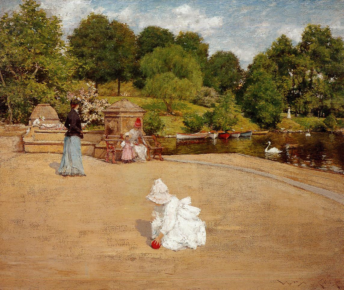 William Merritt Chase. Early morning stroll