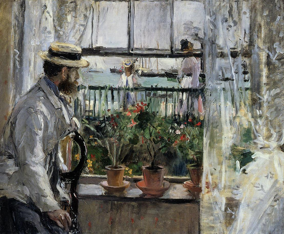 Berthe Morisot. In England (eugène Manet on the Isle of Wight)