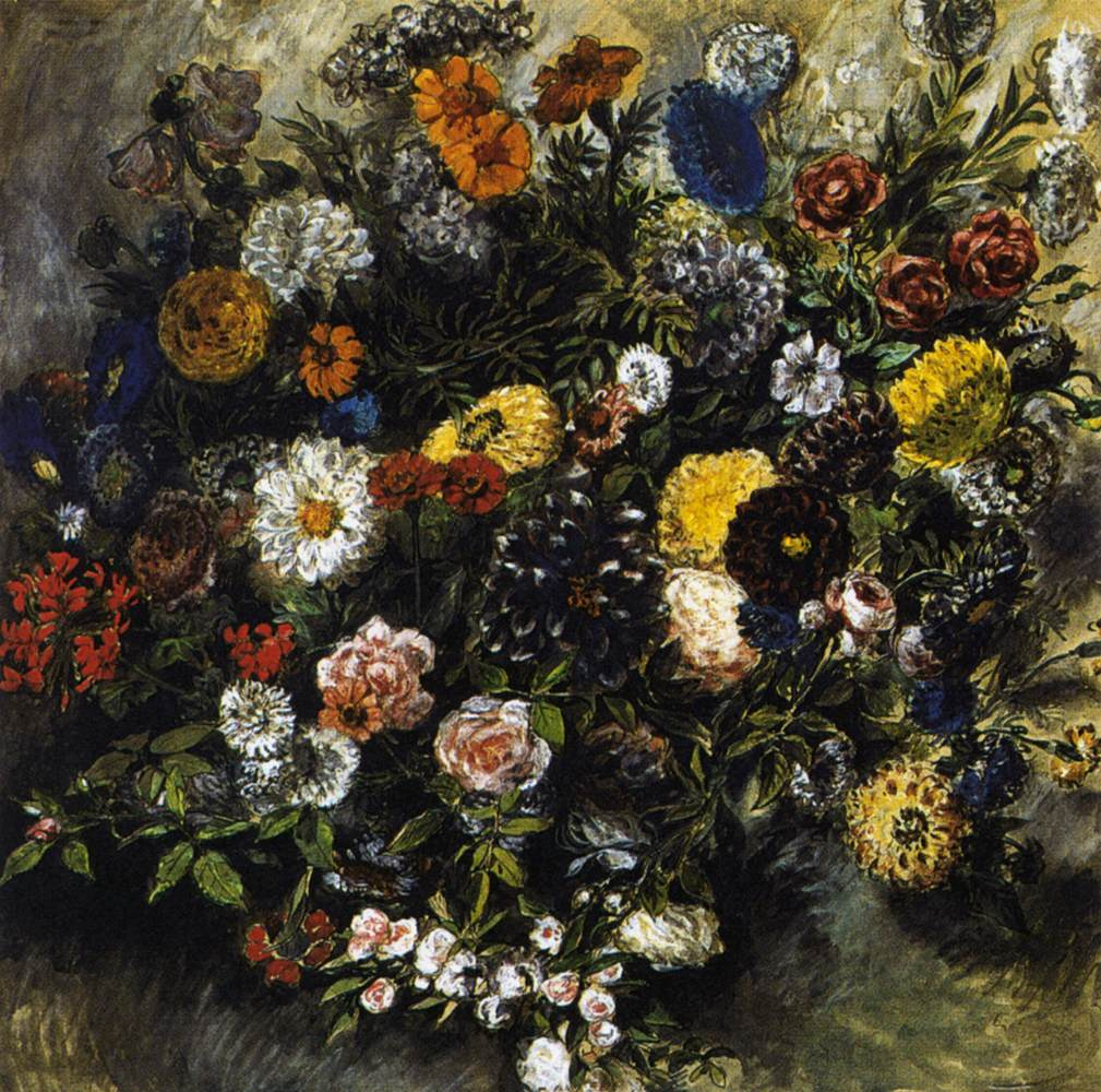 Eugene Delacroix. A bouquet of flowers