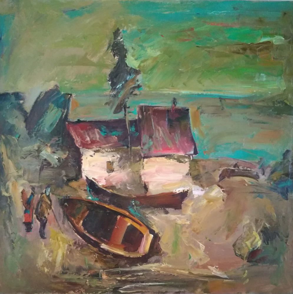 Unknown artist. Fisherman's house