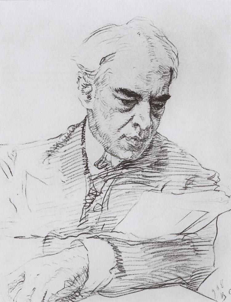 Валентин Александрович Серов. Портрет К.Е. Станиславского