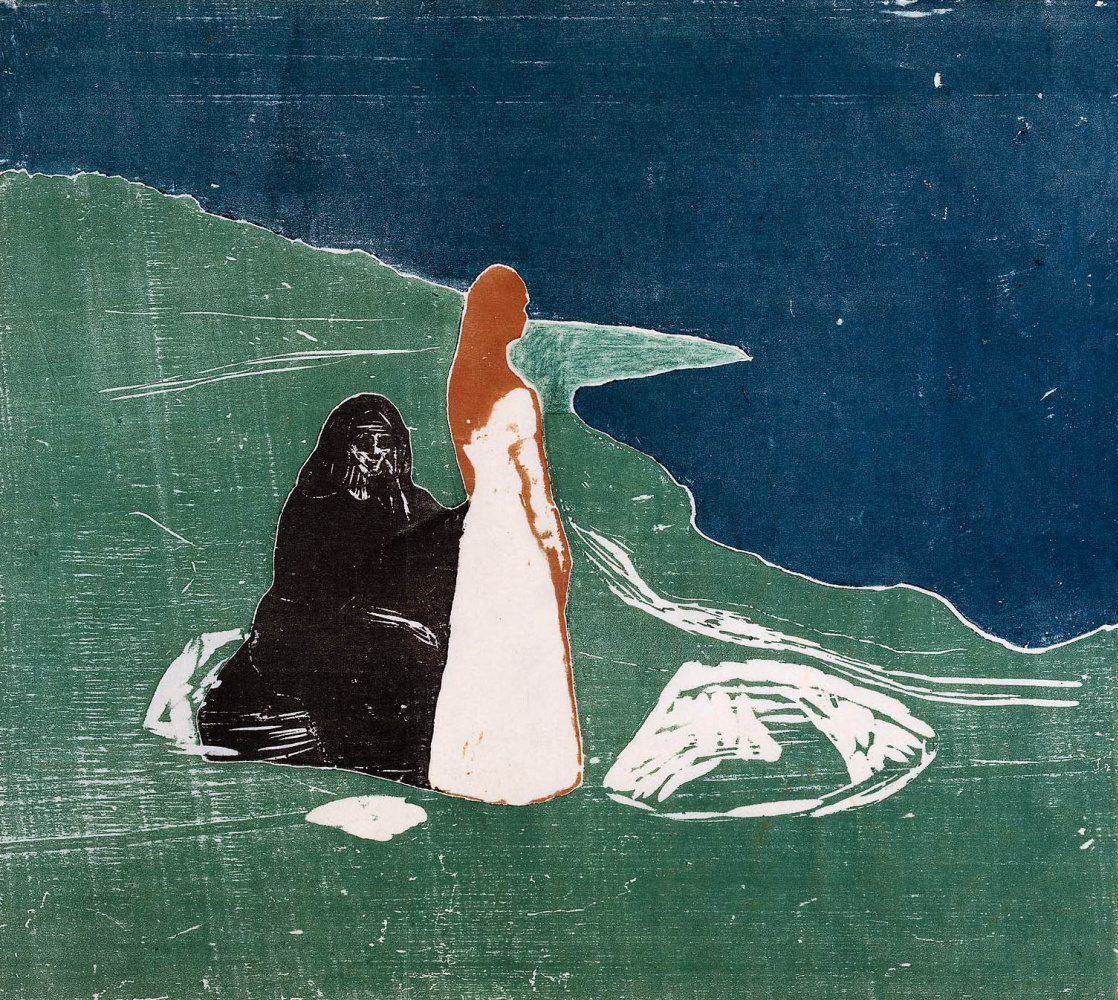 Edvard Munch. Two women on the shore