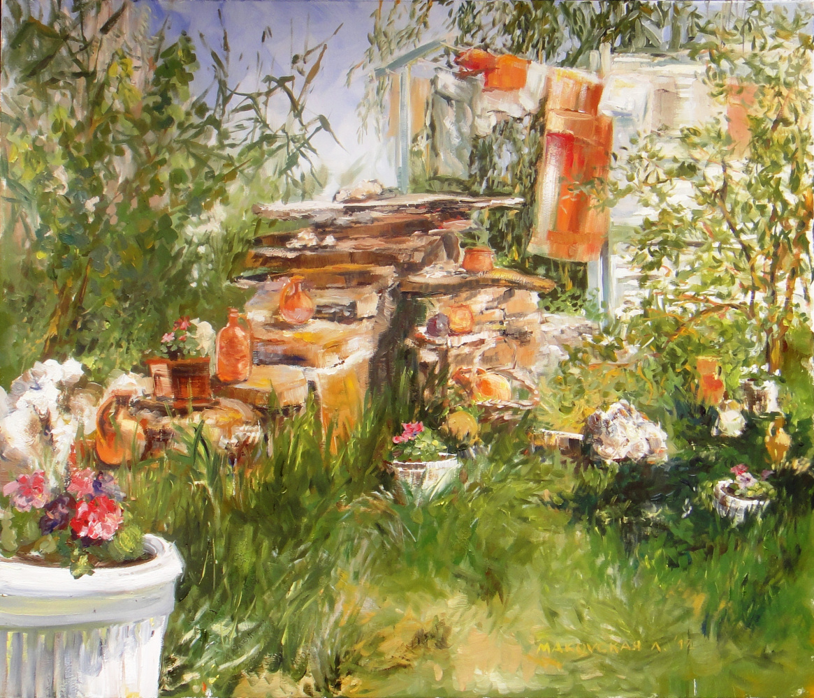 Love Makovsky. Garden in the Crimea