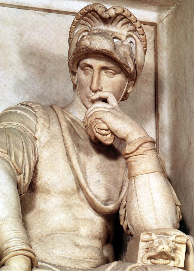 Микеланджело Буонарроти. Гробница Лоренцо Медичи. Лоренцо Медичи. Фрагмент