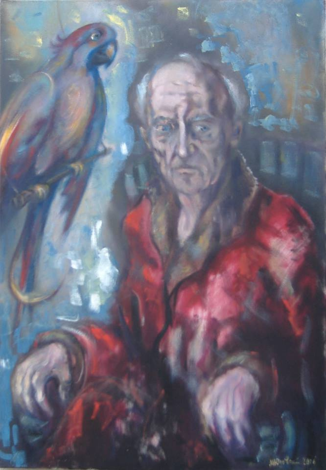 """Michael Yudovsky. """"The old man and the parrot""""."""