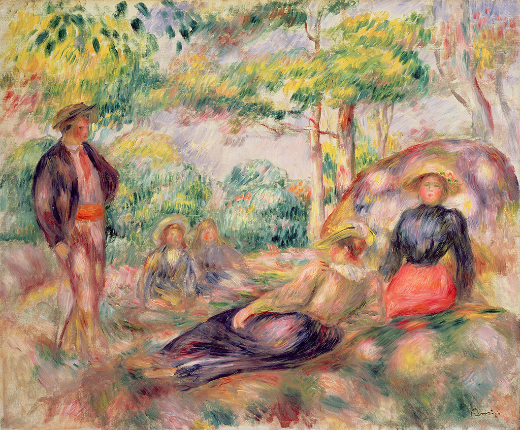 Pierre-Auguste Renoir. Stay on the grass