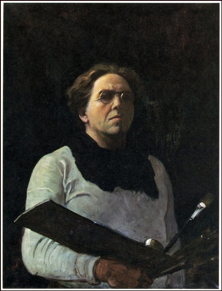 Newell Converse Wyeth. Self-portrait with palette