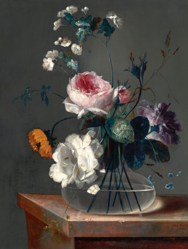 Johann Baptist Drechsler. Blumenstillleben