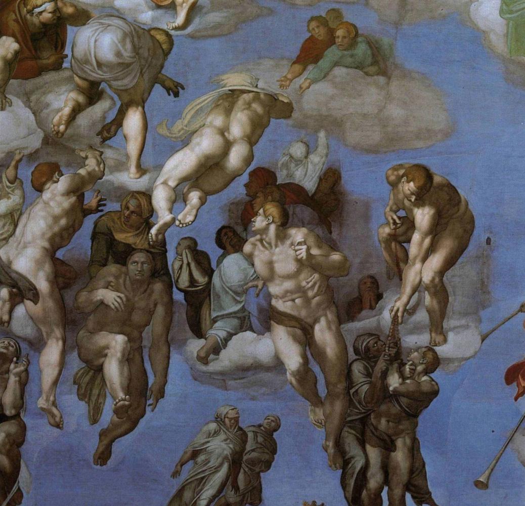 Микеланджело Буонарроти. Страшный суд. Фрагмент.