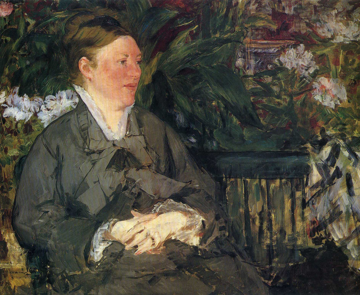 Edouard Manet. Madame Manet in the Conservatory