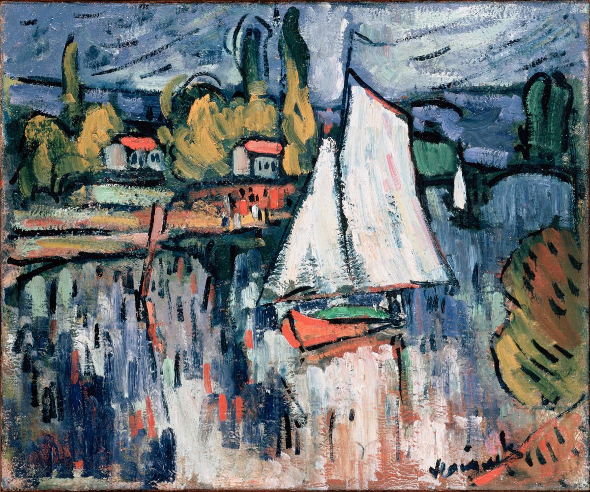 Морис де Вламинк. Вид на Сену
