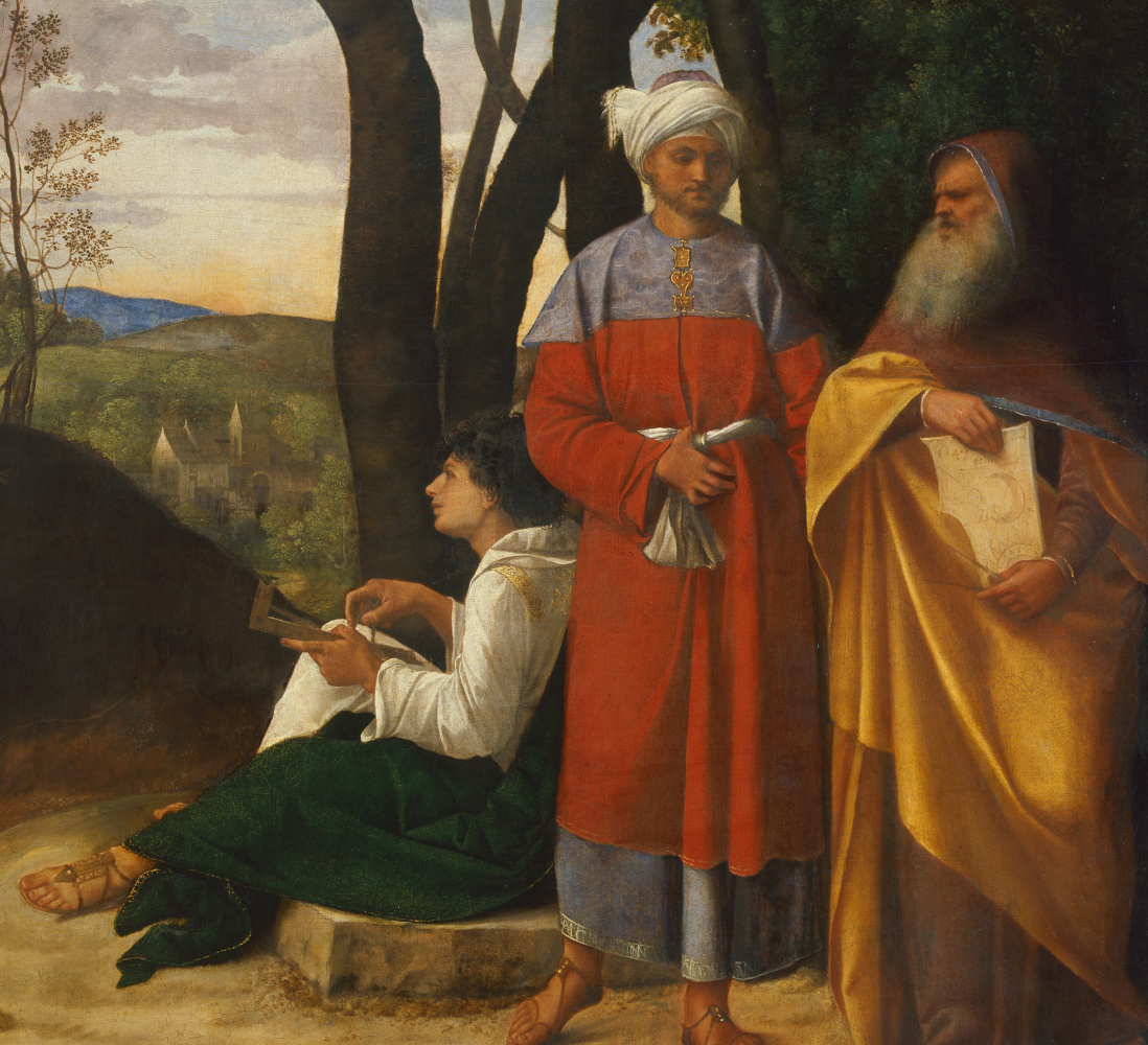 Giorgione. Three philosophers. Fragment