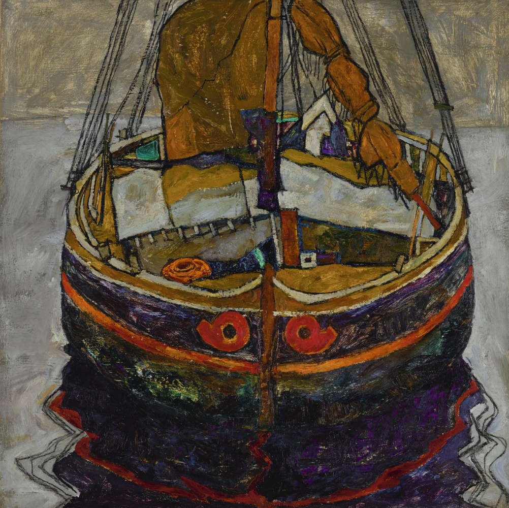 Egon Schiele. Trieste Fishing Boat