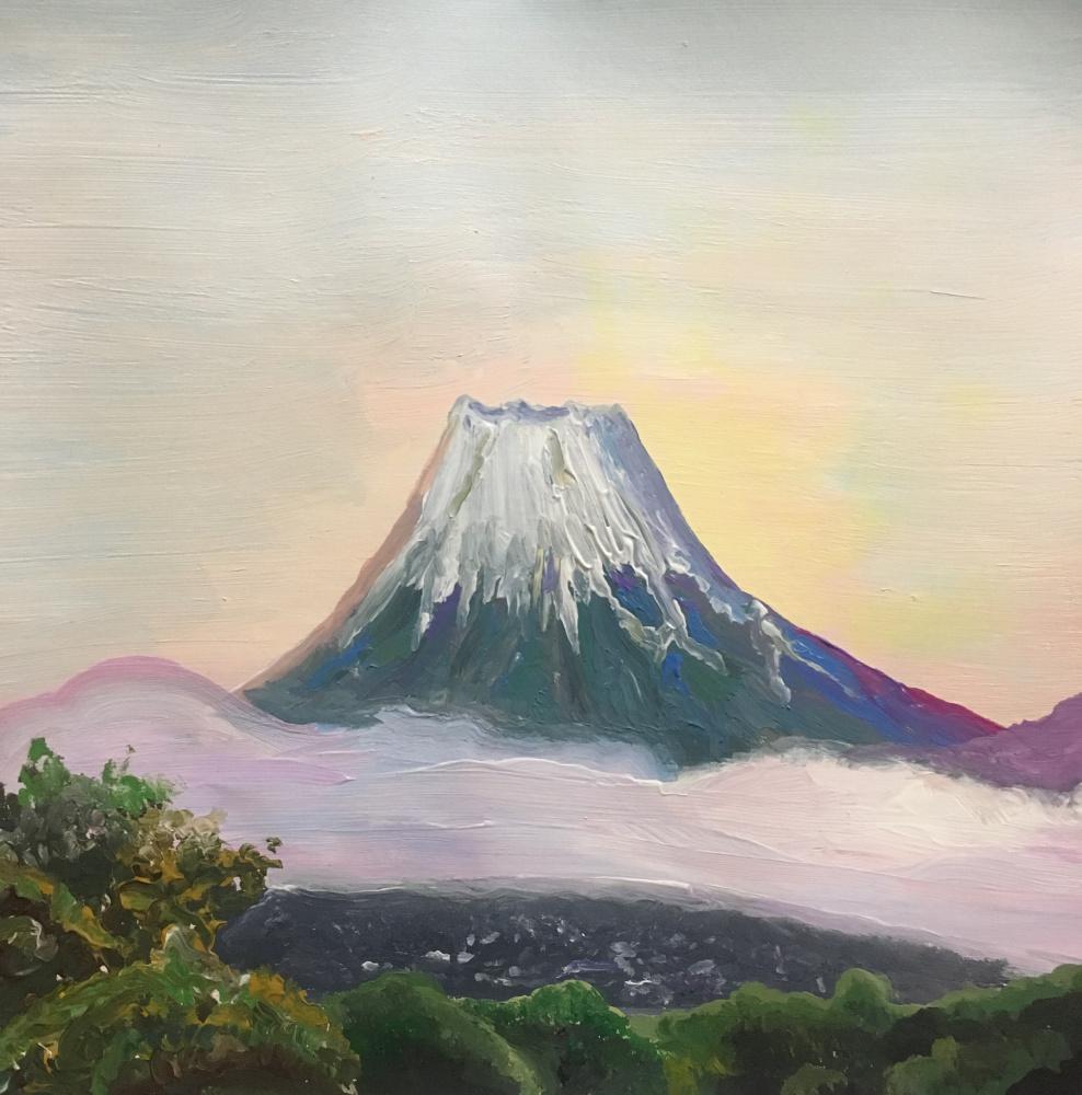 Olimpiya San. Morning on Fuji
