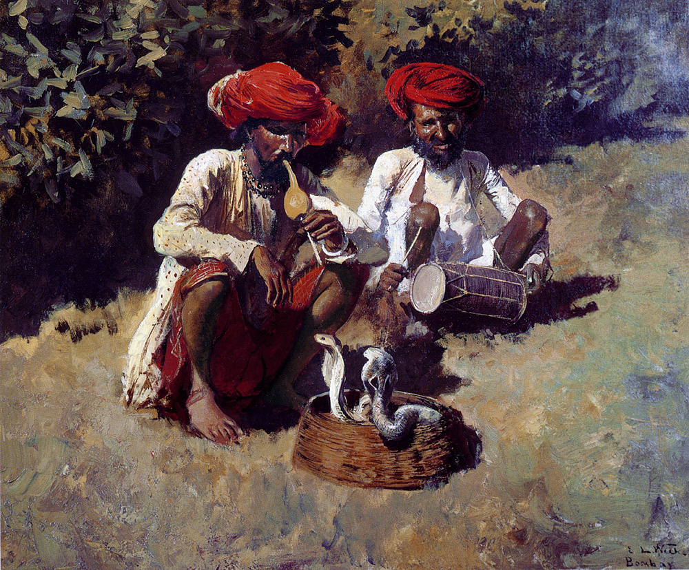 Edwin Lord Weeks. The snake charmers Bombay