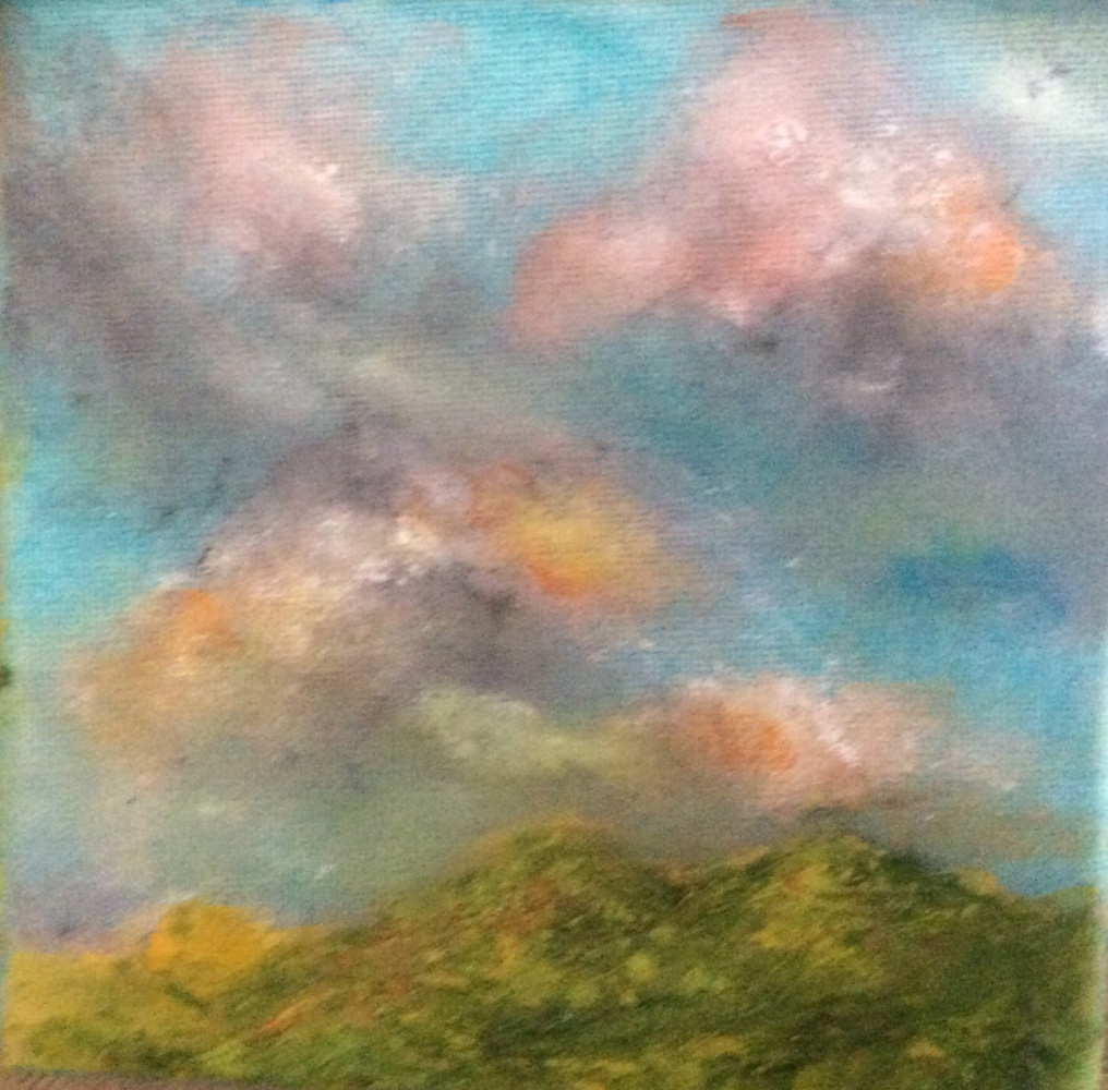 Rita Arkadievna Beckman. The last cloud of a scattered storm over the mountains of Galilee