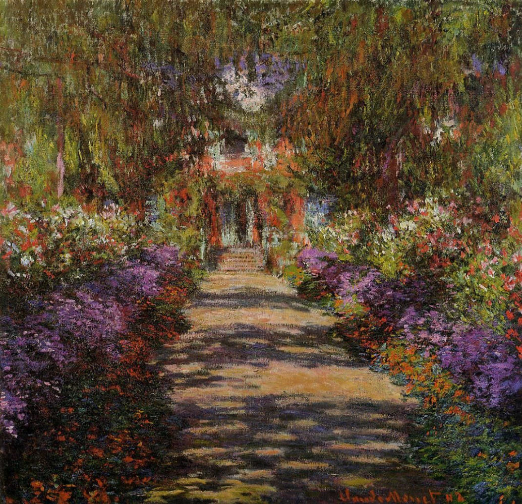 Claude Monet. Garden path