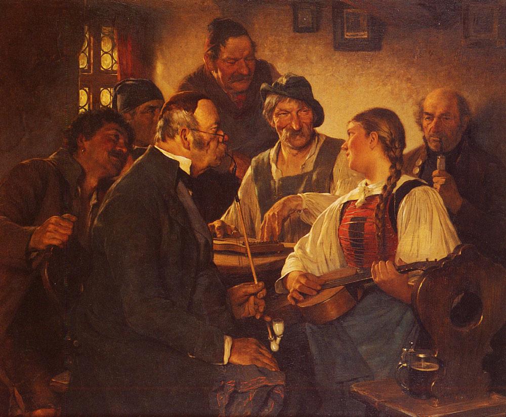 Ugo Kaufman. A player on the zither