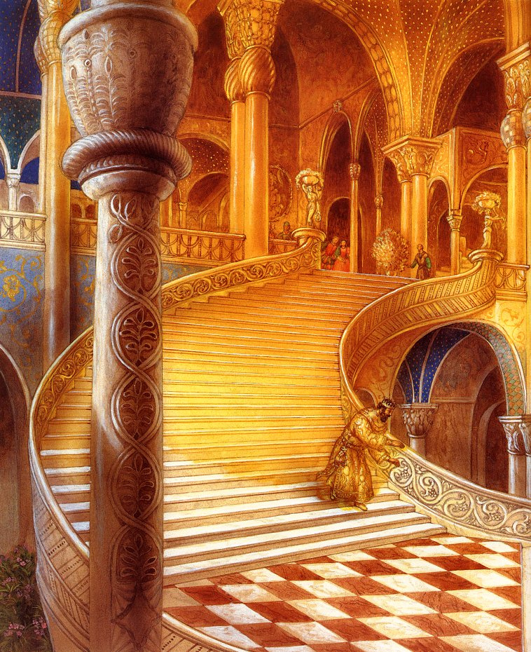 Kinuko Kraft. King Midas the Golden Palace