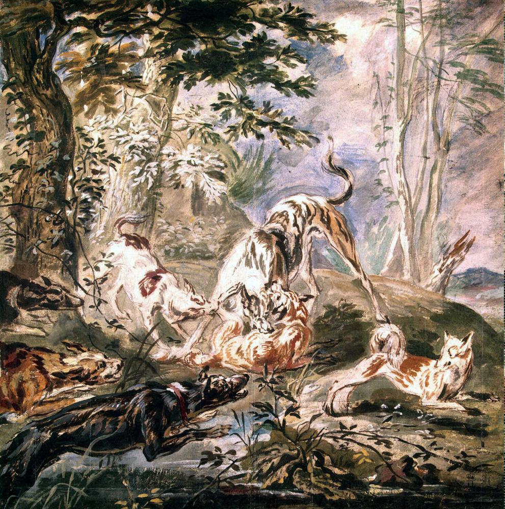 Ян Фейт. Охота на лисиц