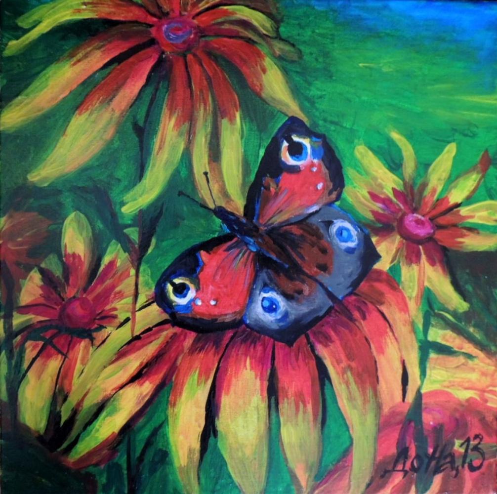 Наталья Досужая. Butterfly on flower