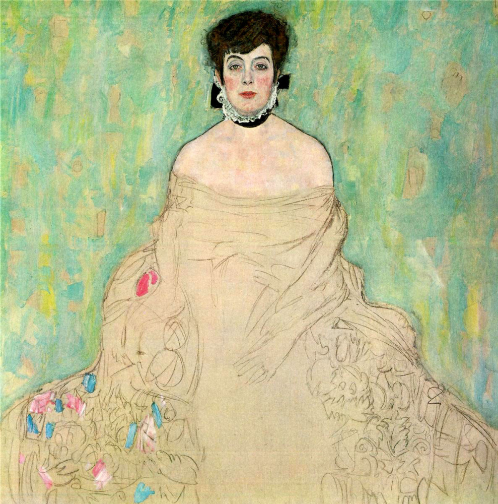 Gustav Klimt. Portrait of Amalia, Zuckerkandl (work in progress)