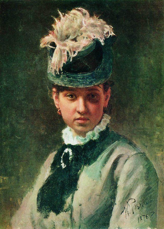 Ilya Efimovich Repin. Portrait of V. A. Repina, the artist's wife