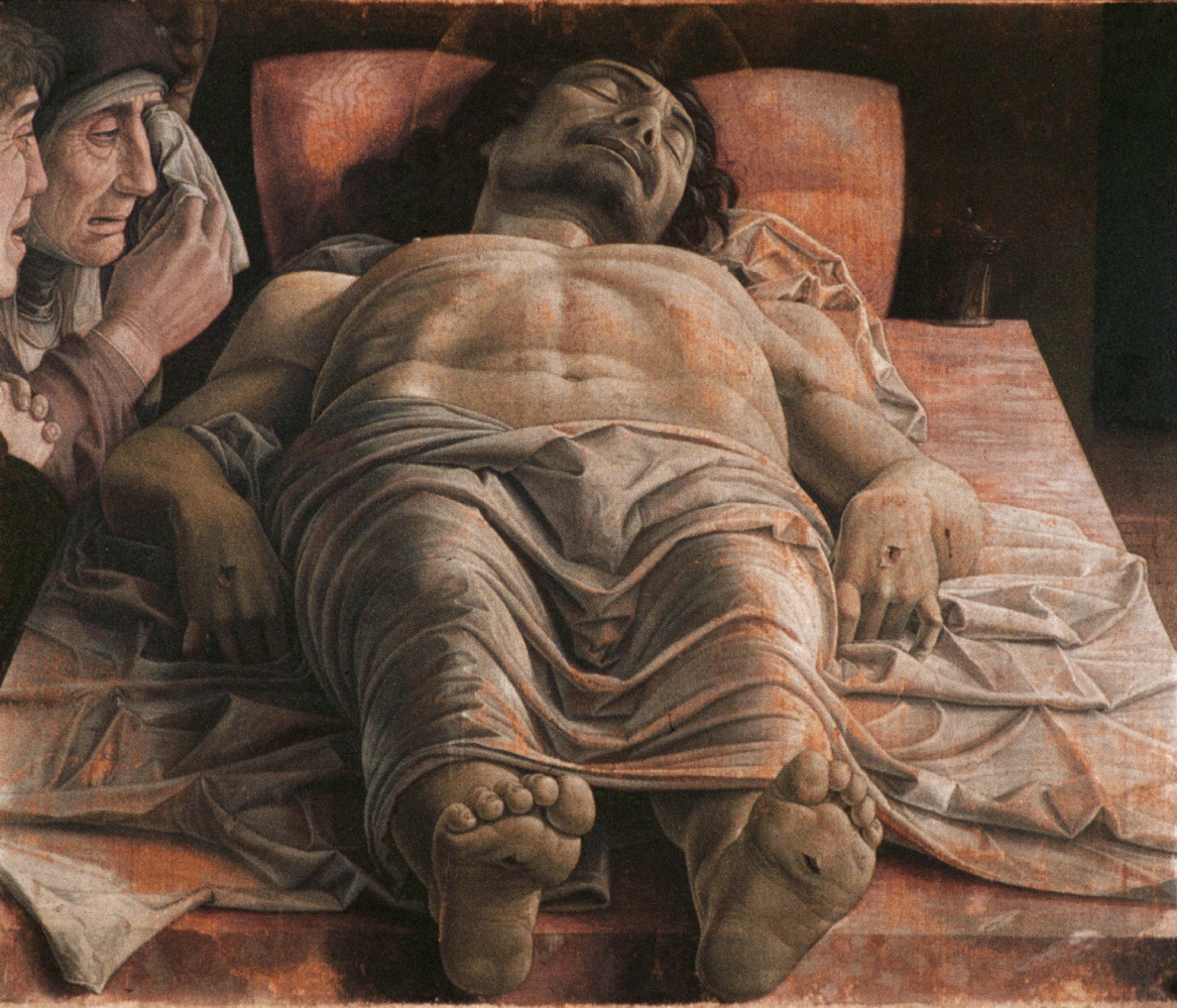 Andrea Mantegna. Dead Christ (Mourning the Dead Christ)