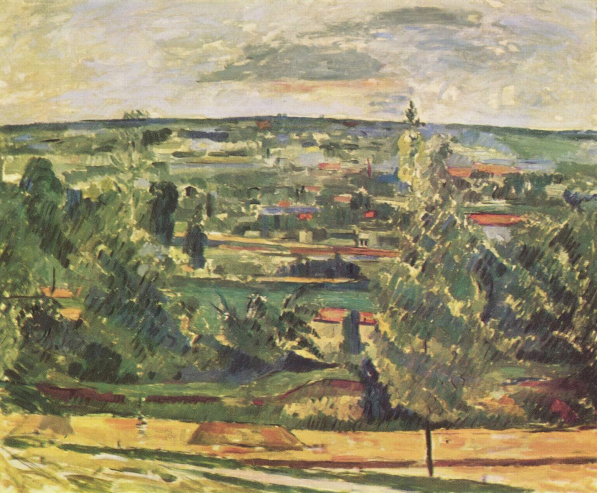 Paul Cezanne. Landscape in Ms. de Bouffan