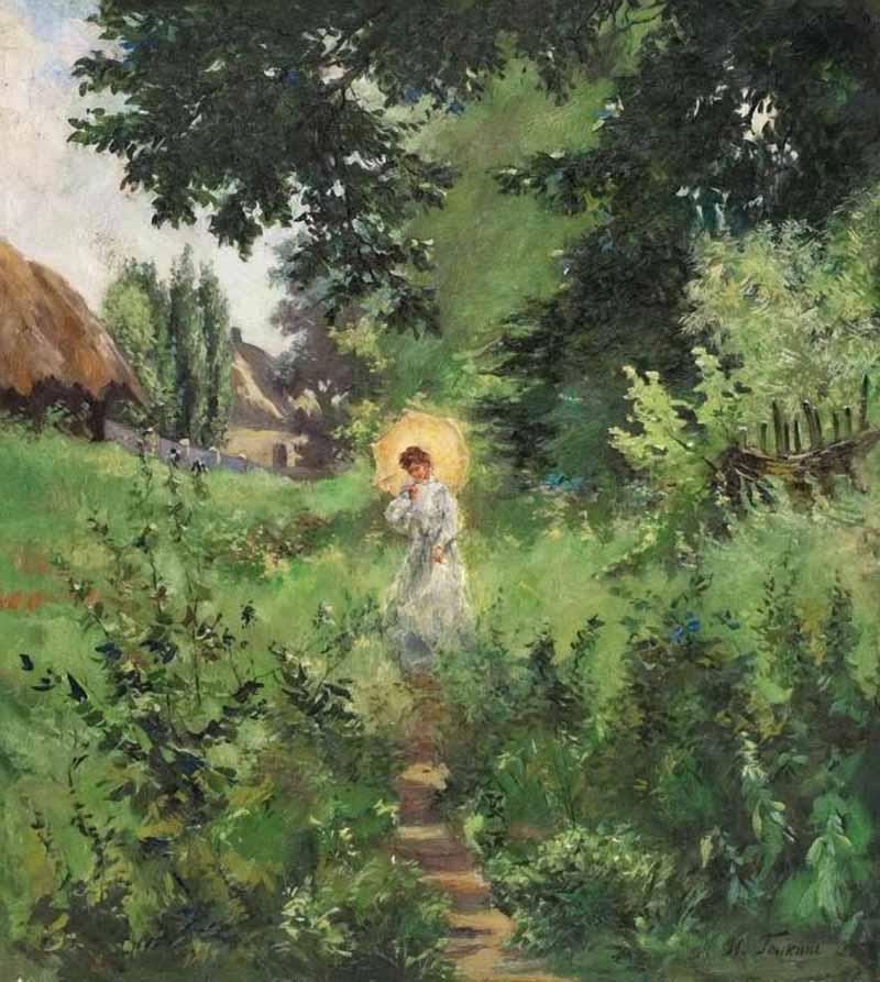 Ilya Savich Galkin. On the walk. 1895