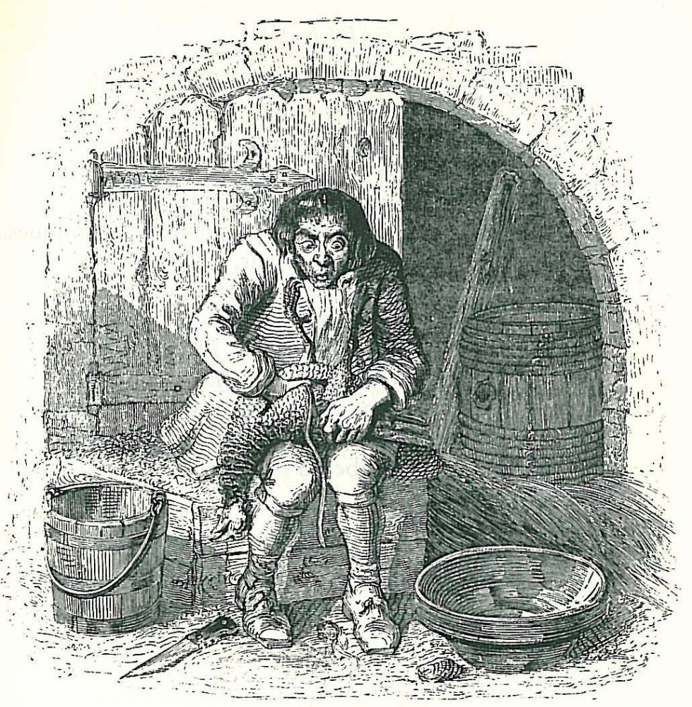 Jean Inias Isidore (Gerard) Granville. Chicken and golden eggs. Illustrations to the fables of Jean de Lafontaine