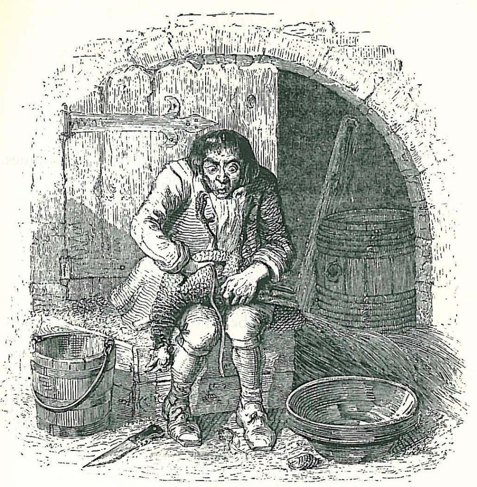 Жан Иньяс Изидор (Жерар) Гранвиль. Курица и золотые яйца. Иллюстрации к басням Жана де Лафонтена