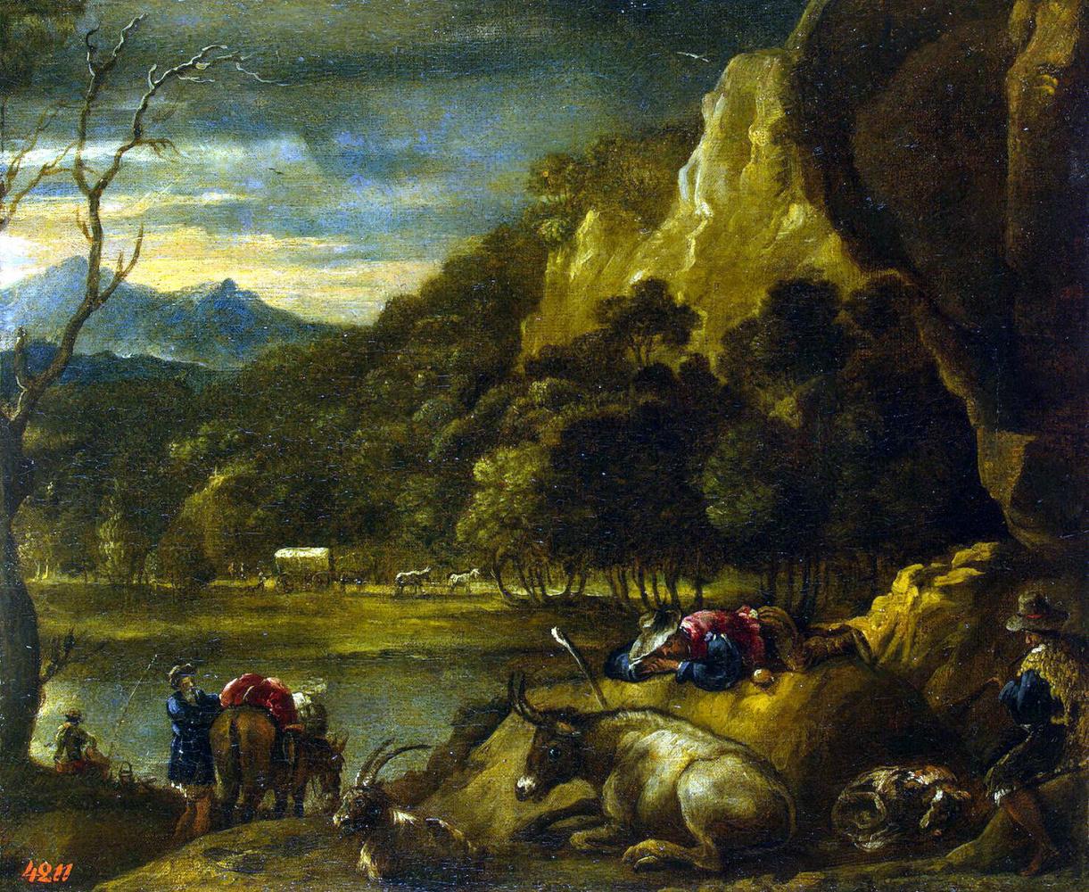 Антонио дель Кастильо. Горный пейзаж