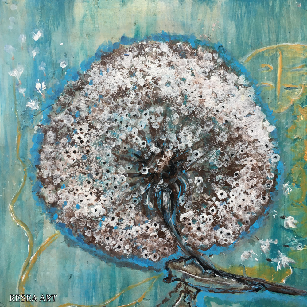 RESEA .. Flowers of Russia. Etude 3. Dandelion