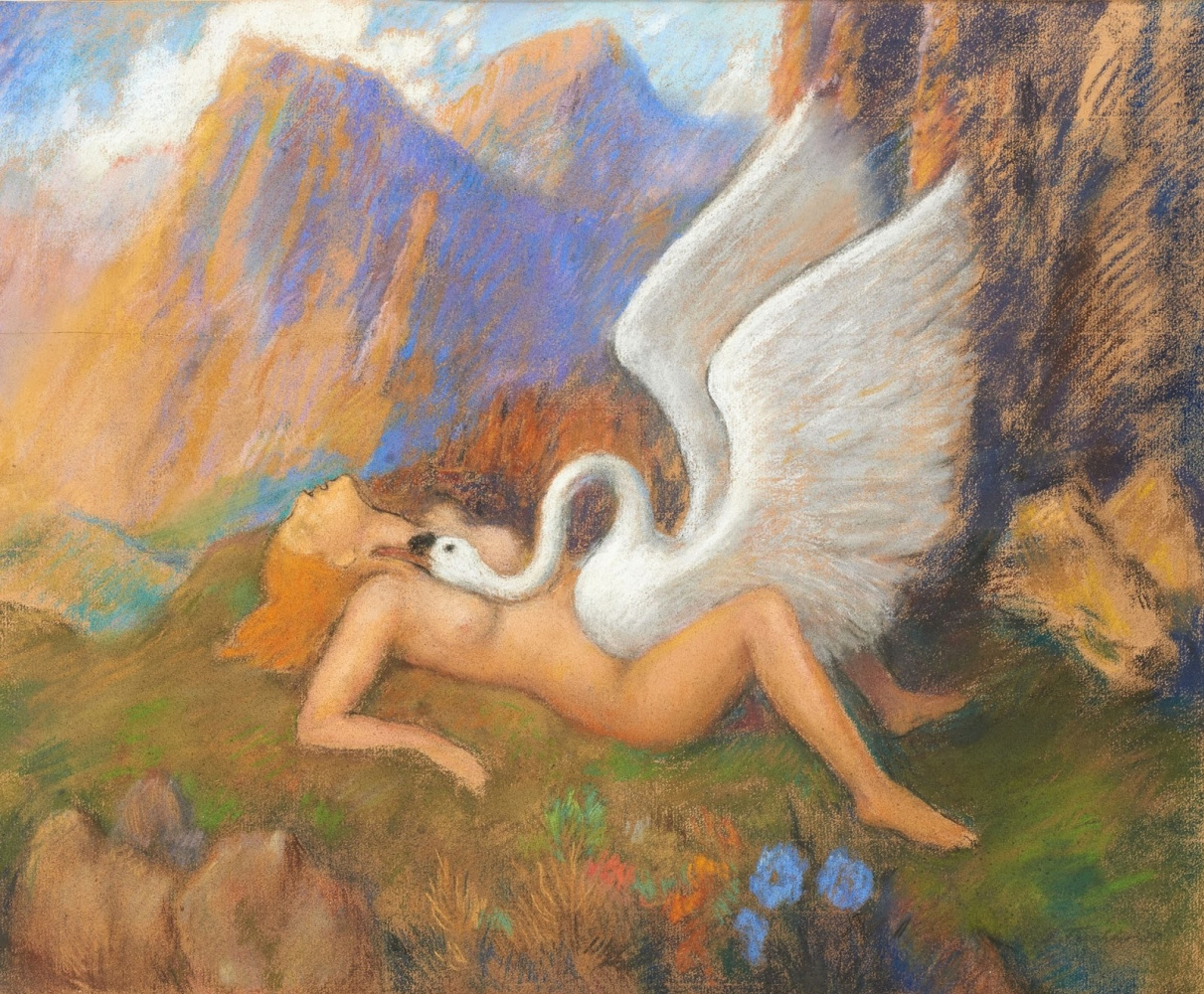 Leonid Isaakovich Frechkop. Leda and the Swan.