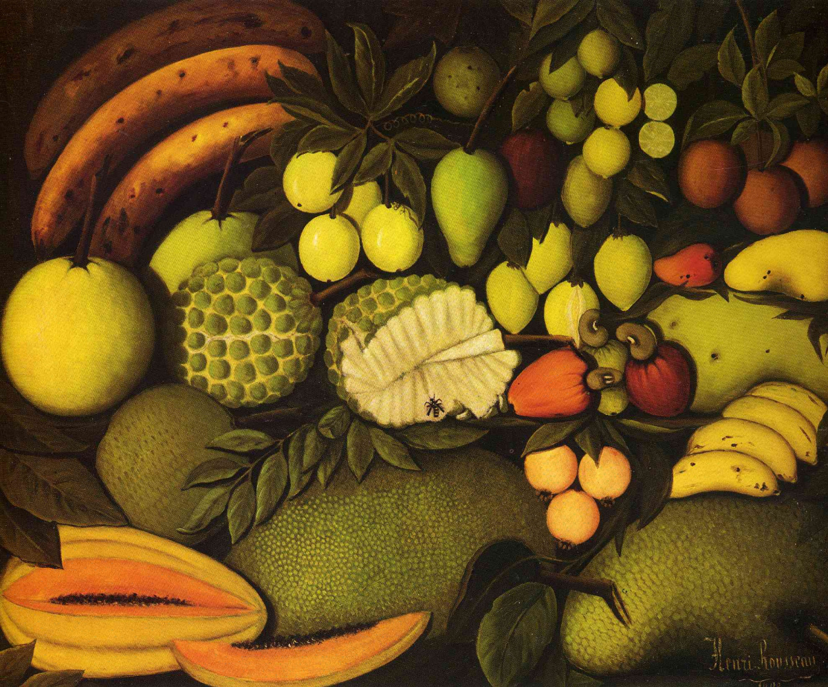 Henri Rousseau. Still life with exotic fruits