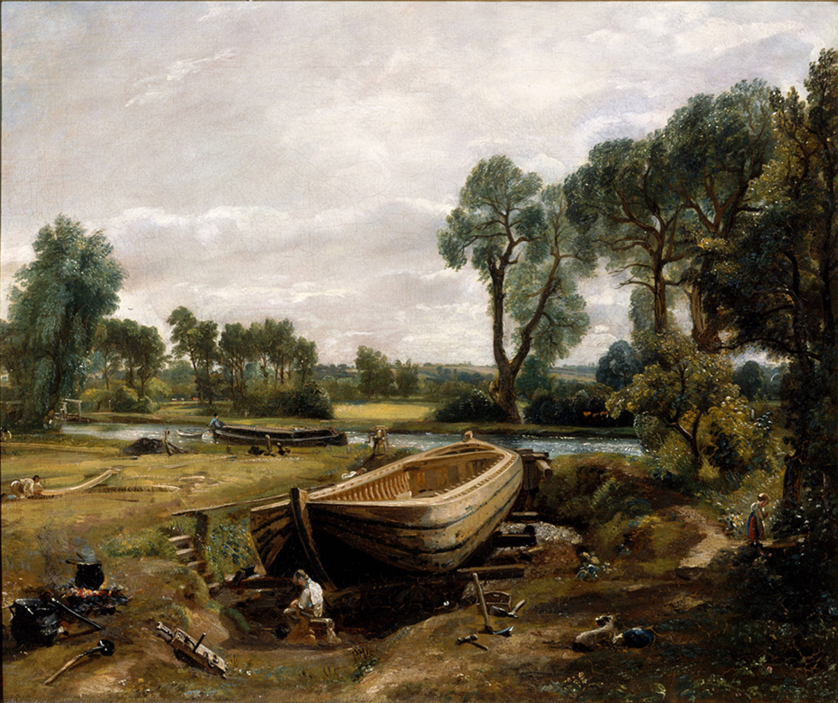 John Constable. The construction of the boat in Flatware