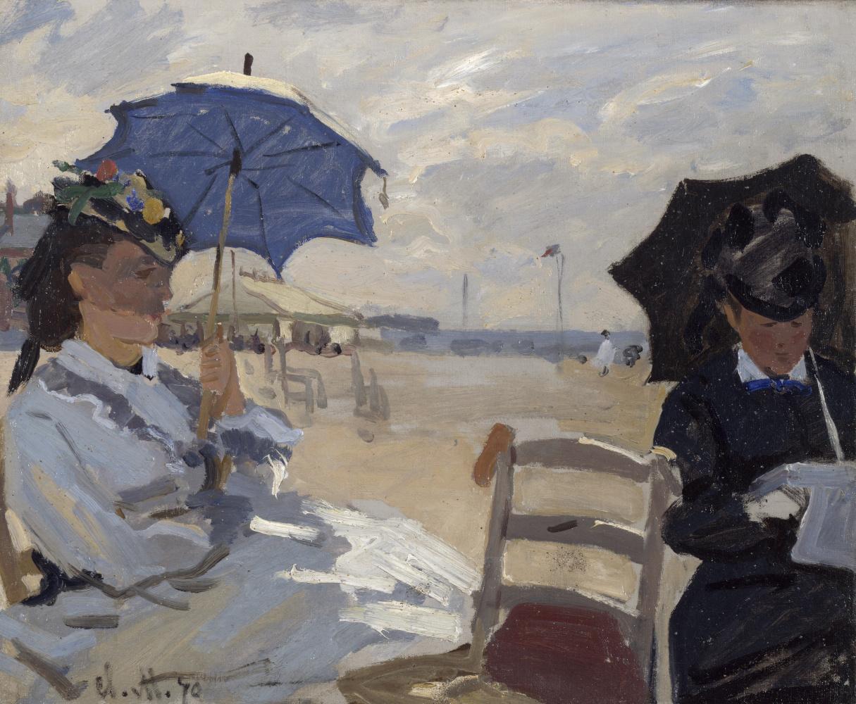Claude Monet. The beach at Trouville