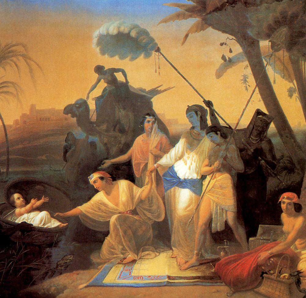 Константин Дмитриевич Флавицкий. Нахождение Моисея дочерью фараона