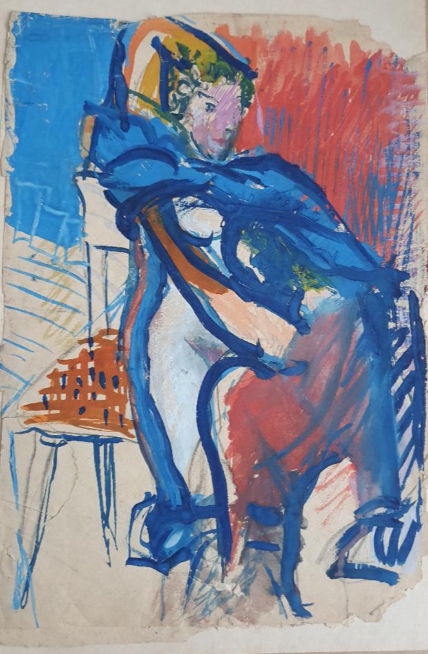 Vladimir Miski-Oglu. Girl on a horse