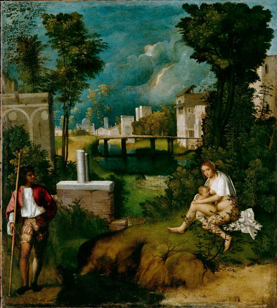 Giorgione. Storm (Thunderstorm)