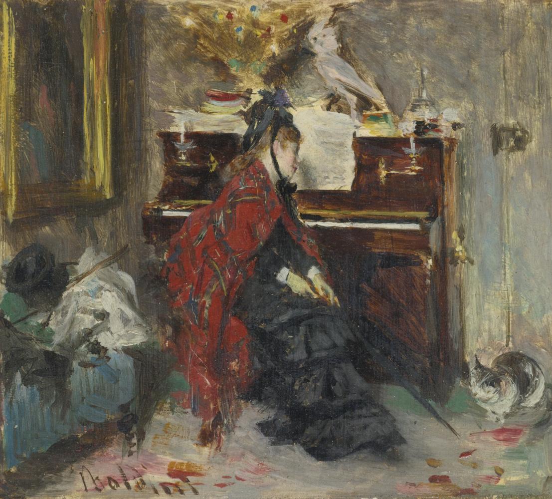 Giovanni Boldini. Woman at the piano