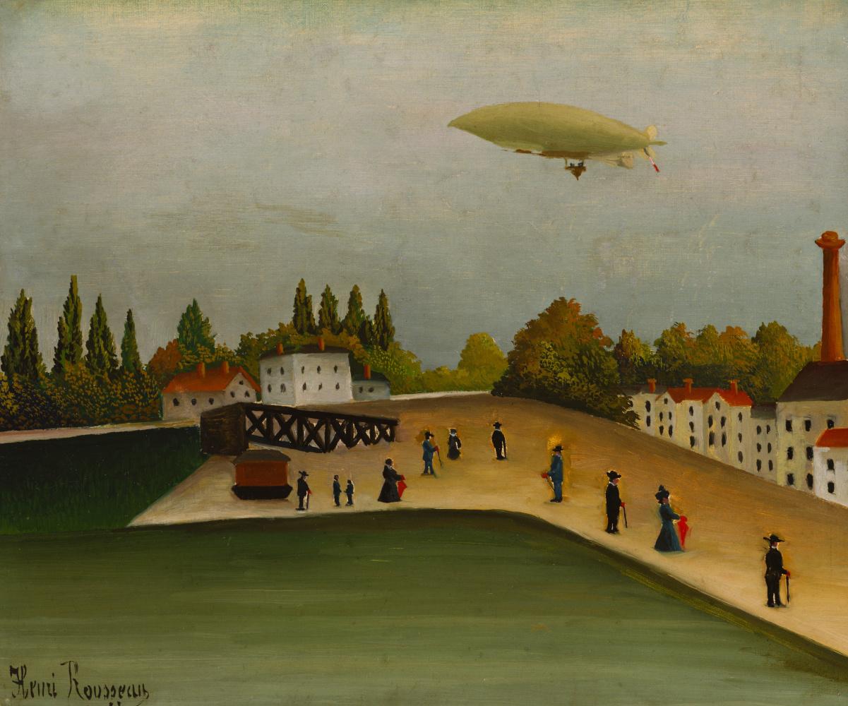 Henri Rousseau. Landscape with a dirigible