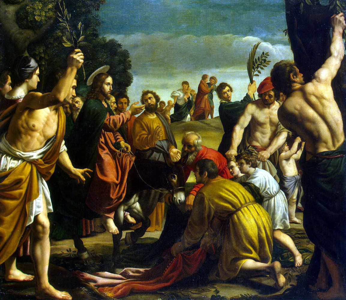 Педро де Орренте. Вход Христа в Иерусалим