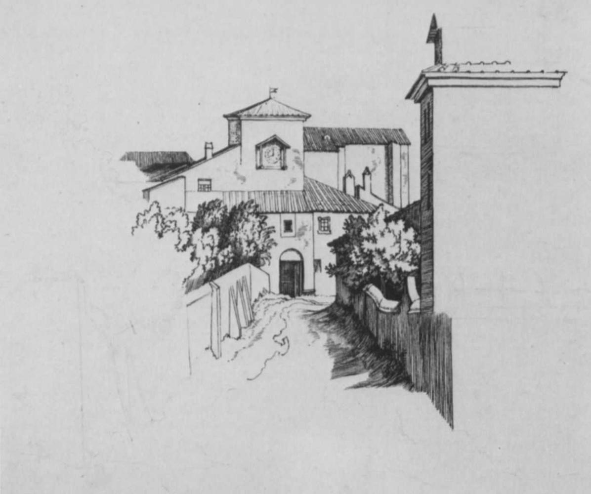Иоганн Фридрих Овербек. Монастырь Санти Кваттро Коронати на Монте Каело