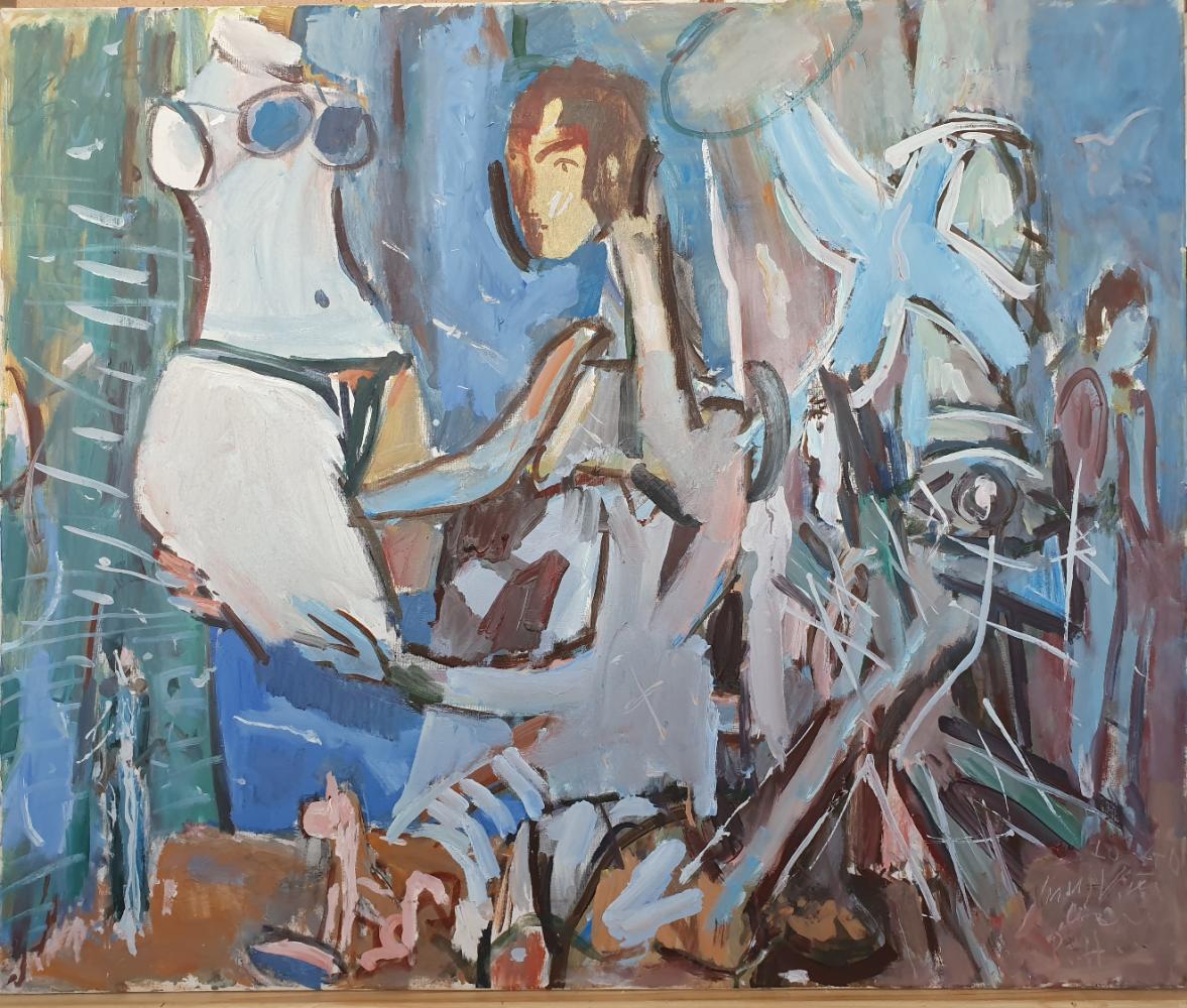 Vladimir Miski-Oglu. Composition with a female torso