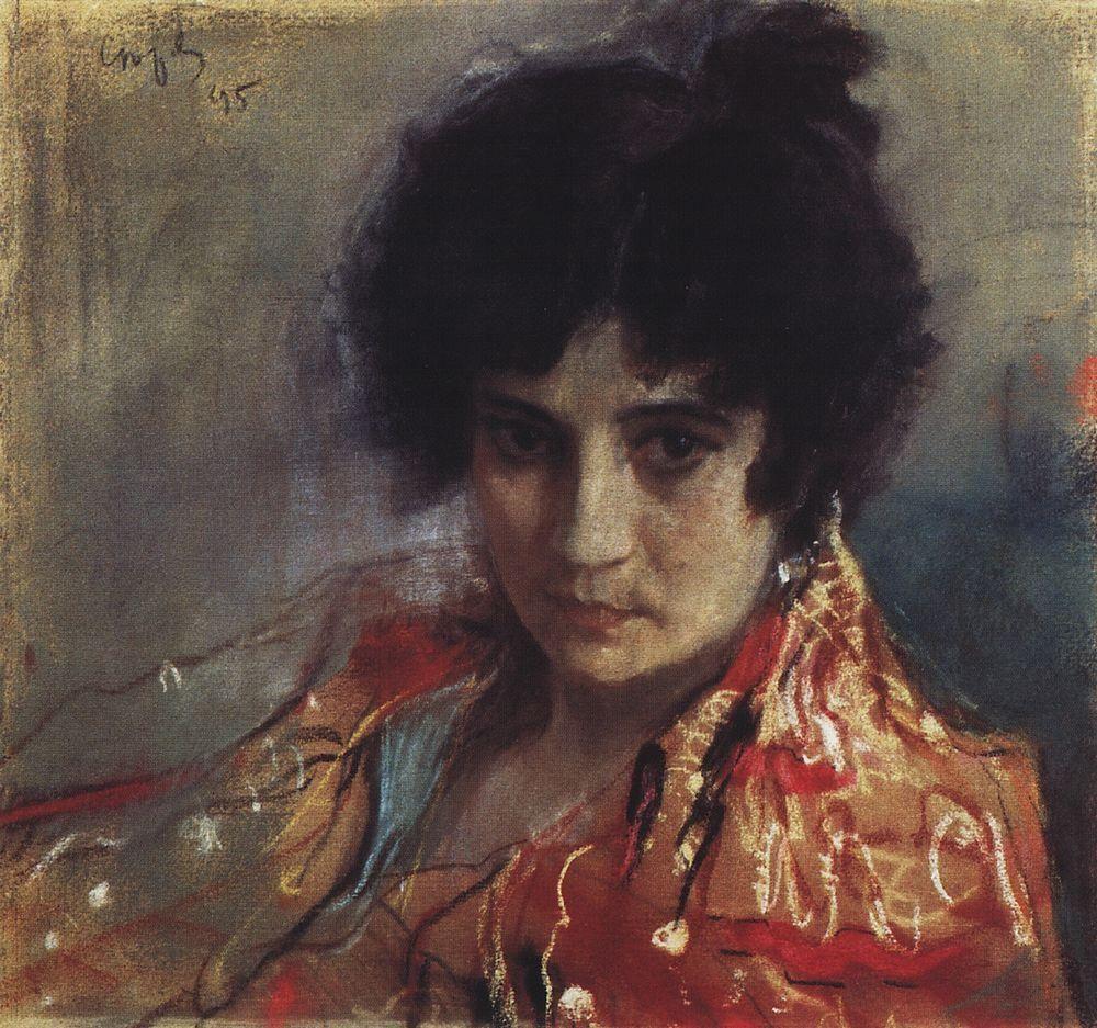 Валентин Александрович Серов. Портрет неизвестной