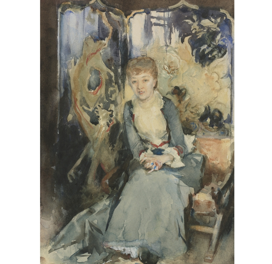 John Singer Sargent. Miss Rubel, sitting in front of a screen