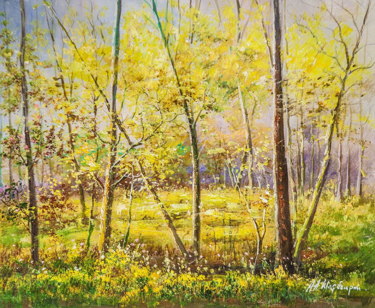 Andrey Sharabarin. Spring in the woods